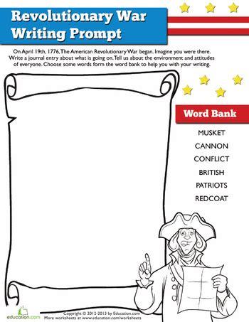 Revolutionary War Worksheets For Elementary Students