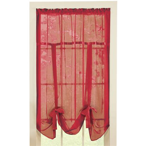 tie up shade curtains sheer tie up shade curtain by collections etc ebay