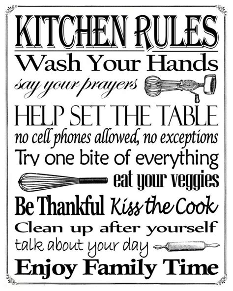 friday bathroom quote 25 best ideas about kitchen rules on pinterest verses