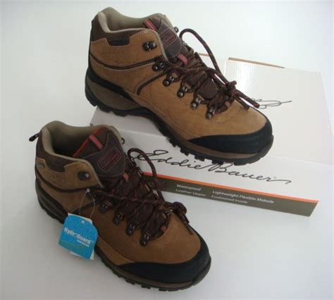 eddie bauer hiking shoes eddie bauer new brown leather hydroguard waterproof hiking