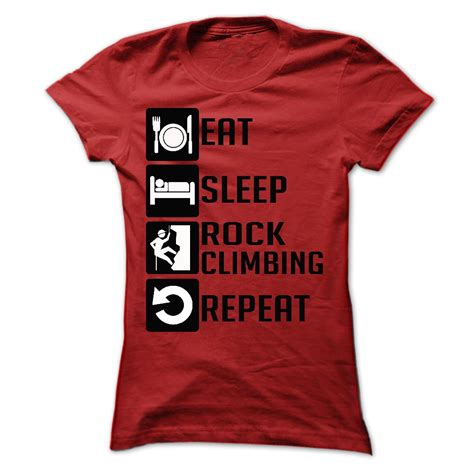 Tshirt Eat Sleep Work 11 eat sleep rock climbing and repeat t shirts t