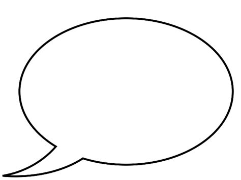 blank speech template clipart best