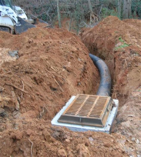 backyard water drainage problems drainage repair company charlotte nc hyatt landscaping