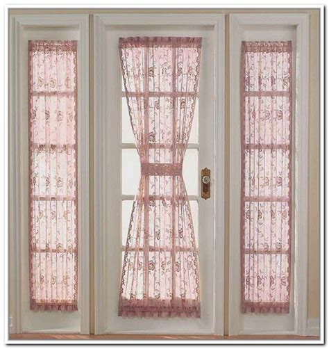 curtain for side door window door side window treatments window treatments design ideas
