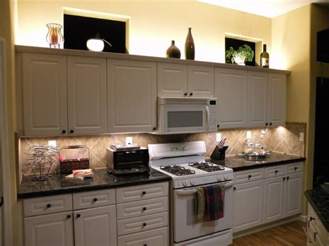 lights above kitchen cabinets warm white backlight modules under cabinet lighting