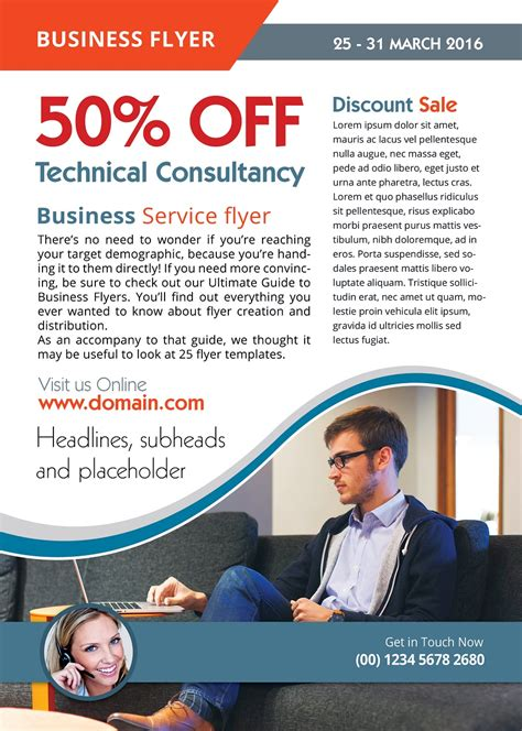 business advertisement template flyer template best