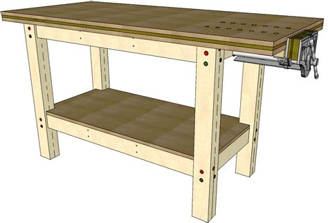bench drawings first workbench 045 3d woodworking plans