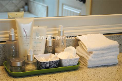 bathroom counter organization organized bathroom counter