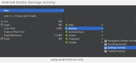 android studio requirements settings with preference headers lonewolf tech