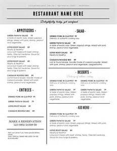 Restaurant Menu Templates Word by Doc 464600 Microsoft Word Restaurant Menu Template