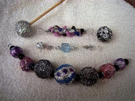 MAKE BEADS FROM ALUMINUM FOIL, HOW TO DIY, jewelry making, beading   YouTube