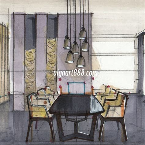 Kitchen Design Online Free interior sketching with markers for beginners video