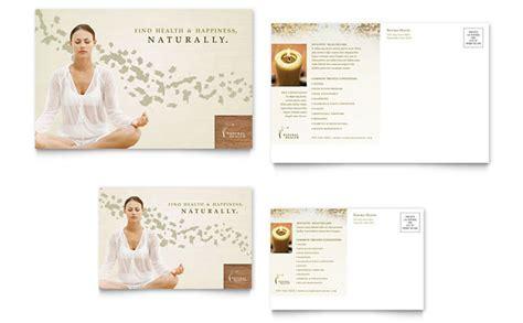 naturopathic medicine postcard template design