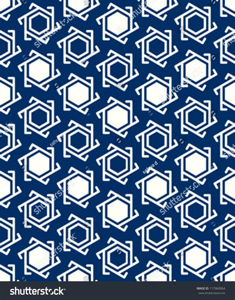 Blus Muslim White muslim blue white seamless geometric pattern stock vector