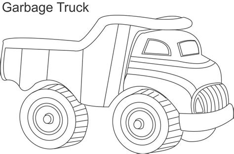 garbage truck coloring page for kids