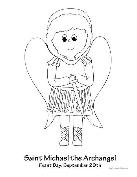 archangel coloring page saint michael the archangel my catholic kids