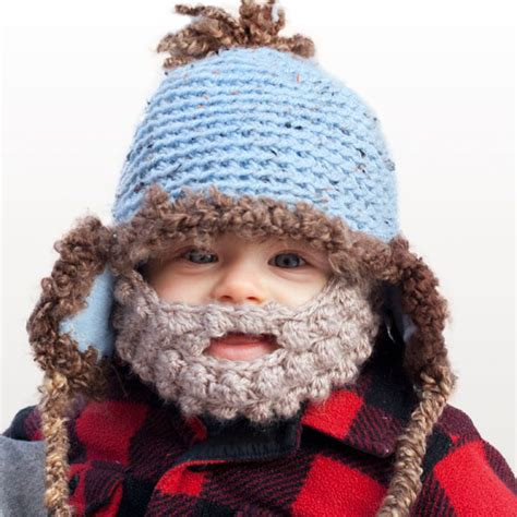 knitted baby beard obsessed a bearded beanie for your kid s
