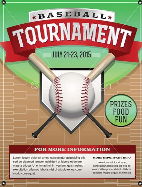 Tournament Flyer Template 25 Baseball Flyers Psd Vector Eps Jpg Download Freecreatives