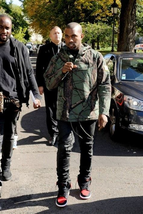 Flight Bomber X Urband Absolute Black kanye west wearing air 1 quot bred quot s style