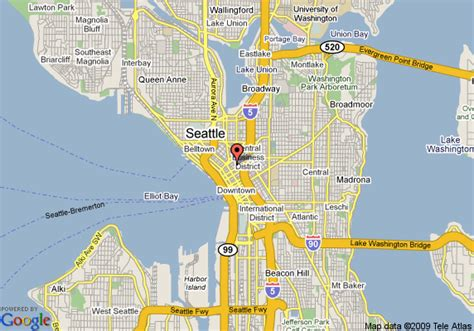seattle map roosevelt the roosevelt a coast hotel seattle deals see hotel