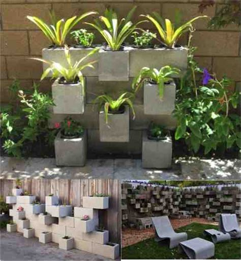 How To Make A Cinder Block Planter by Diy Cinder Block Planters Do It Yourself Ideas