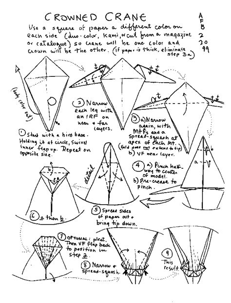 How To Build An Origami Crane - how to make origami bird with paper found here info