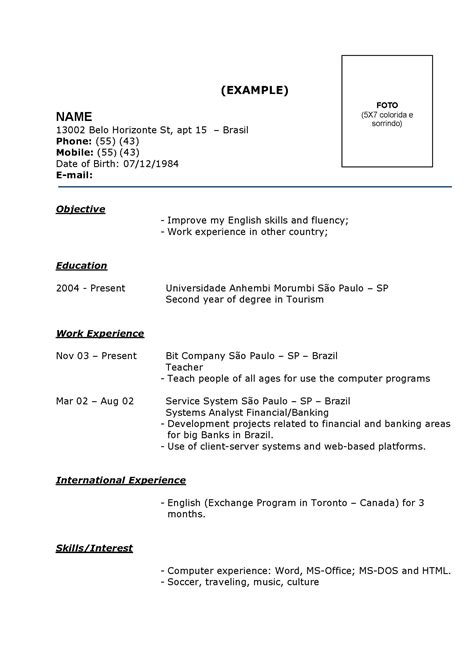 Modelo De Curriculum De Modelos De Curriculum Vitae De Sucesso