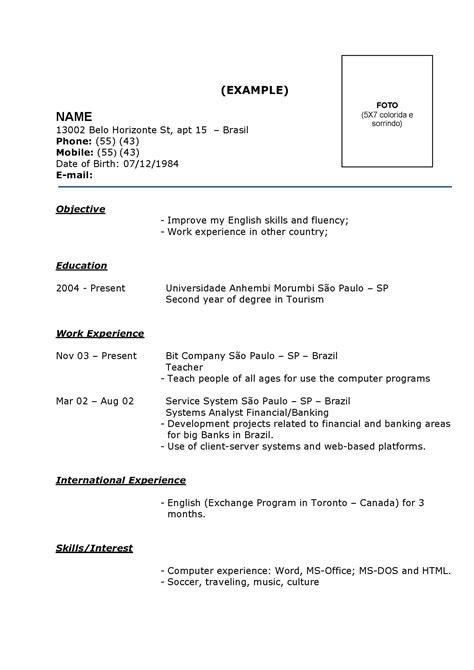 Modelo De Curriculum Vitae Basico Para Editar Modelos De Curriculum Vitae De Sucesso