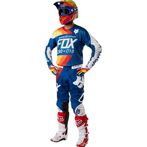 motocross gear fox 2018 fox racing 360 draftr gear kit blue sixstar racing