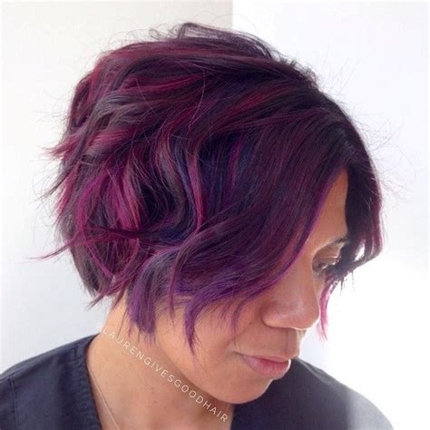 purple hairstyles for a women in her 40s 20 highlighted hair ideas for women over 40 page 18 of