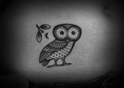 owl tattoo dotwork pointillist dotwork greek owl tattoo got ink pinterest
