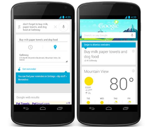 reminders android search for android updated with new now cards reminders and more