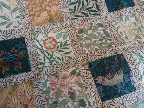 William Morris Patchwork Fabric - william morris quilt minniemoll knits and crafts