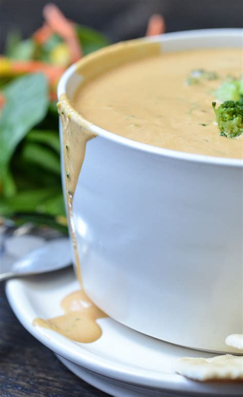 vitamix broccoli cheese soup recipe vegan broccoli cheese soup vitamix