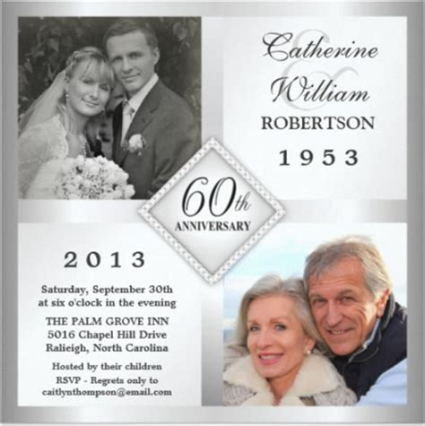 60th wedding anniversary card templates free 27 anniversary invitation templates free psd vector