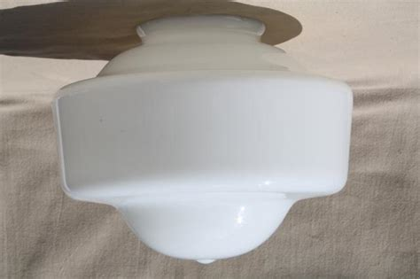milk glass l shade replacement art deco vintage milk glass light shade for pendant l