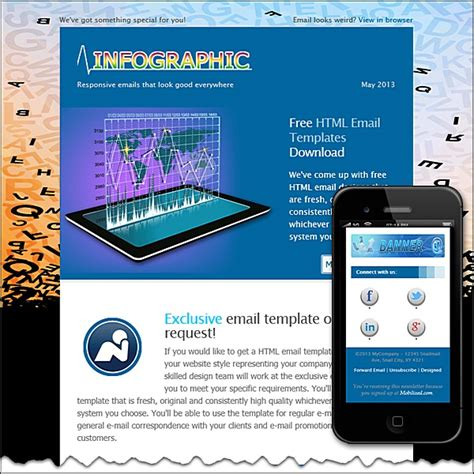 Infographic Free Html E Mail Templates Infographic Email Template