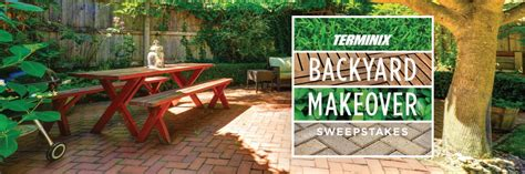 free backyard makeover contest win the terminix backyard makeover worth 20 000
