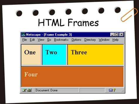 design html page showing forms and frames html frames and html forms