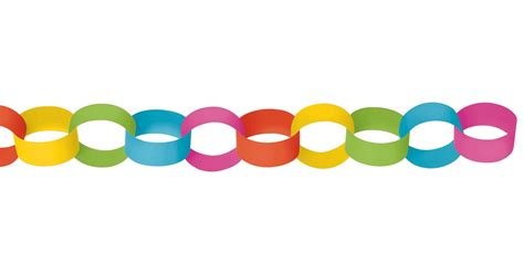Paper Chains - pastel paper chain link garland birthdayexpress