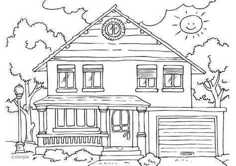 burning house coloring page disegno da colorare casa esterno cat 25996