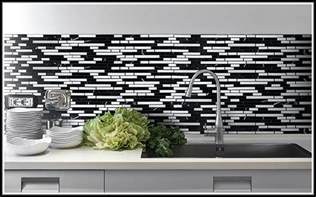 Painted Gray Kitchen Cabinets black and white glass tile backsplash tiles home