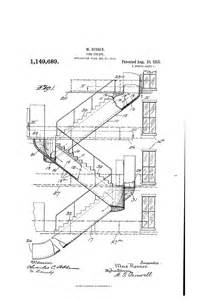 Fire Exit Stairs Dimensions by Patent Us1149689 Fire Escape Google Patents