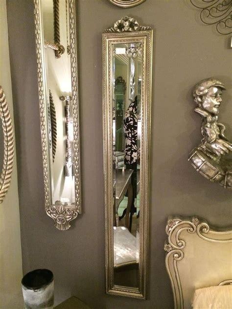 narrow bathroom mirrors silver bow ornate narrow mirror shabby chic slim hall