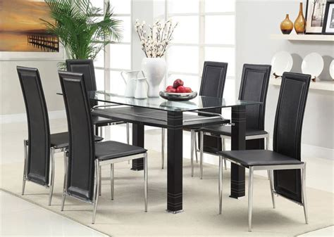 Marvelous Turkish Dining Room Furniture #2: Black-glass-dining-room-sets.jpg