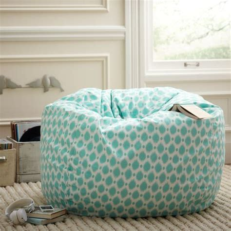 bedroom bean bag chair pb teen blue ikat patterned bean bag room inspiration