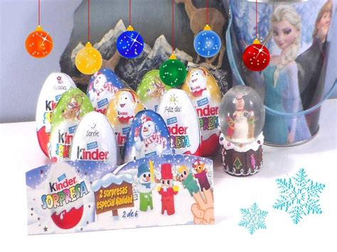 decorar huevos de navidad huevos kinder sorpresa navidad huevos con sorpresas y