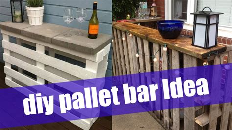 DIY Pallet Bar   YouTube