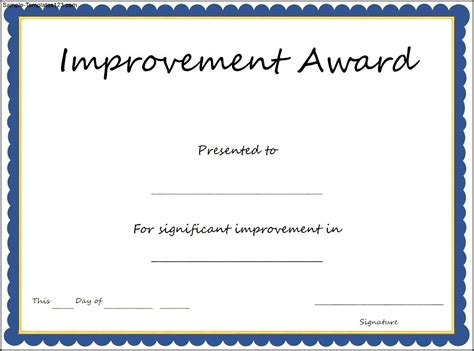 student award certificate template image gallery improvement award