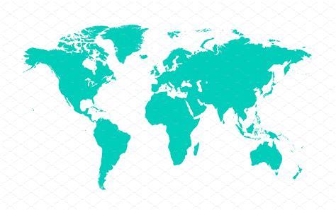 flat world map image  travel information